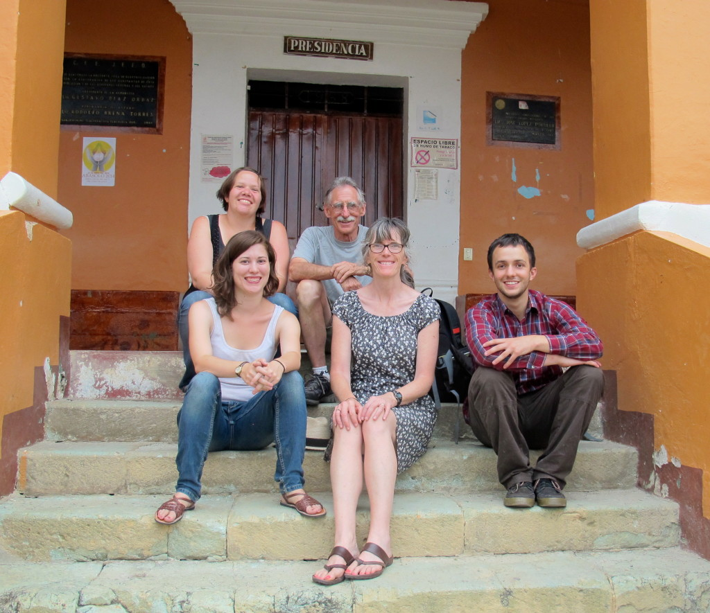 The Teaching Staff in Tlacochahuaya: Kate, Stephanie, Timmy and us.
