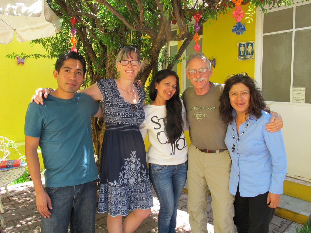 Emanuel, Lily and Flor, our great teachers at Oaxaca Spanish Magic.