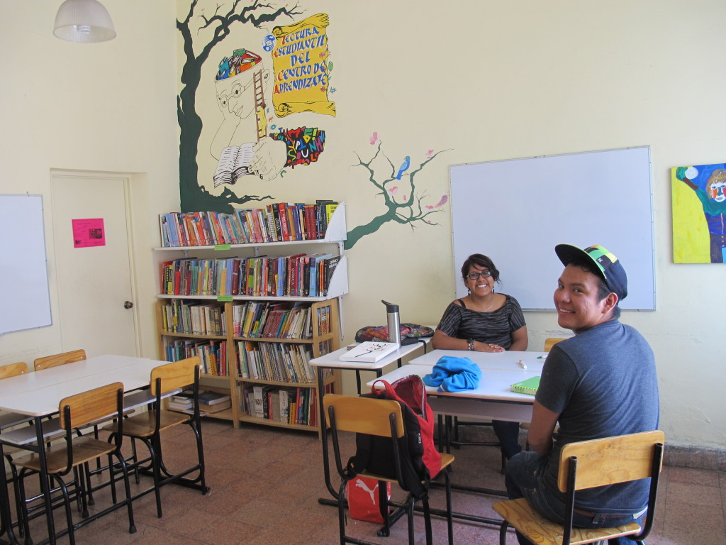 Just two of the hundreds of students and tutors at The Oaxacan Learning Centre.